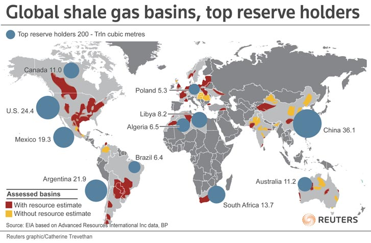 Proved Reserves Of Crude Oil And Natural Gas In The United States - Us shale gas map